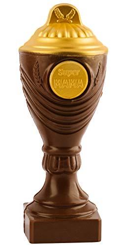 Pokal aus Schokolade 'Super Mama' - 22cm...