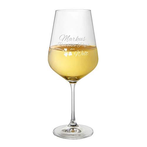 AMAVEL Weißweinglas mit Gravur für Den Besten...