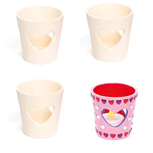 Baker Ross Teelichthalter aus Keramik'Herz' zum...