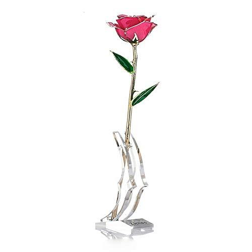 ZJchao 24 Karat Rose vergoldet mit Geschenkbox und...