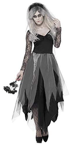 Halloween! Smiffys Kostüm Friedhofsbraut, mit...