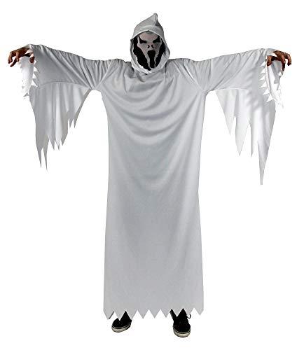 Foxxeo weißes Geister Kostüm für Erwachsene -...