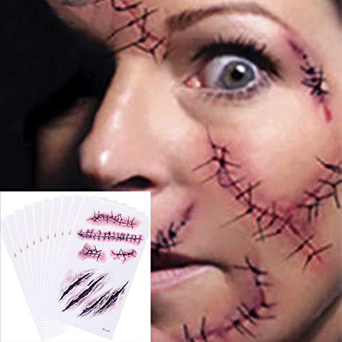 Temporäre Tattoos (10 Blatt) - Halloween Zombie...