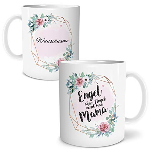 OWLBOOK Engel Mama Große Kaffee-Tasse mit Spruch...
