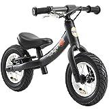 BIKESTAR Kinder Laufrad Lauflernrad Kinderrad für Jungen und Mädchen ab 2 - 3 Jahre ★ 10 Zoll Sport Kinderlaufrad ★ Schwarz (matt)
