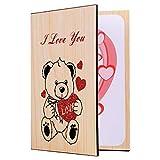 STOBOK Bambuskarte,Grußkarte für jeden Anlass - Geschenk Geschenkkarte für Valentinstag,Tag der Mutter,Neues Jahr,Hochzeitstag,Geburtstag,Jubiläum Karte