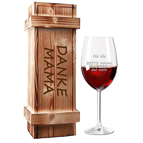 Weinglas (Leonardo) mit Holzkiste im Geschenk-Set...