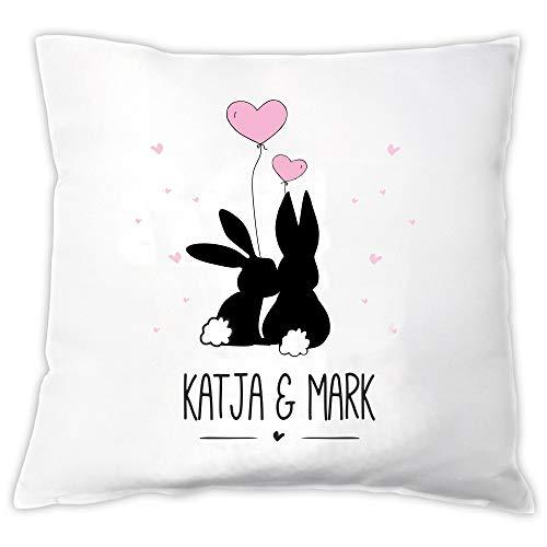 4you Design Kissen Verliebte Hasen personalisiert...
