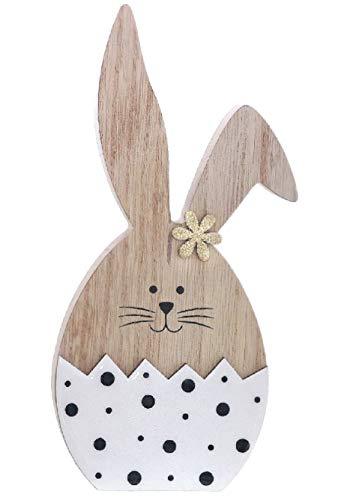 Dio putzige Silhouette Ei als Osterhase aus Holz...