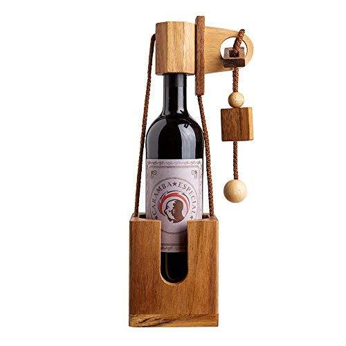 Casa Vivente Flaschenpuzzle aus dunklem Holz,...