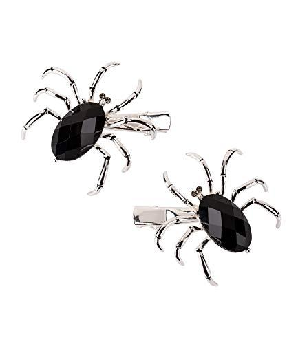 SIX 2er Set Haarspangen mit silberfarbener Spinne...
