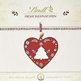 Lindt Frohe Weihnachten Pralinen, 7 unterschiedliche Sorten: Lebkuchen Herz, Makrone, Nuss Nougat gold, (167 g)
