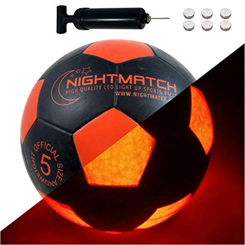 NIGHTMATCH LED Leuchtfußball - Offizielle Größe...