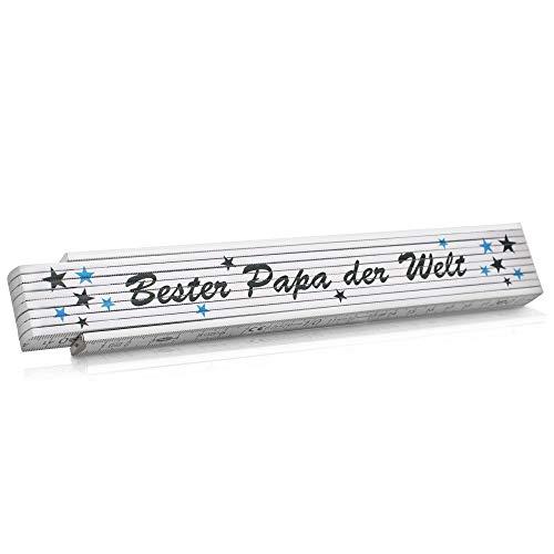 Zollstock Geschenk für Vatertag Meterstab...