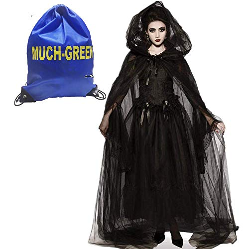 Much-Green Damen Hexen Kostüm,Zombie Kostüm...