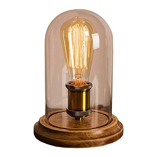 Dellemade Jahrgang Massiv Holz Lampe Retro...