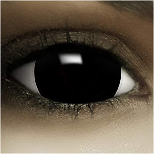 Maxi Sclera Kontaktlinsen'Black' + Kunstblut...