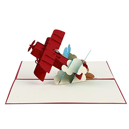 LWANFEI 3D Gruß Karte Flugzeug Pop Up Karte Alles...