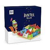 Ritter Sport Bunter Teller (3 x 230 g), kleines Schokoladen-Geschenk, Süßigkeiten zu Weihnachten, Schale gefüllt mit Weihnachtsschokolade, schöne Tischdeko