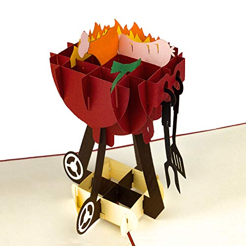 PaperCrush® Pop-Up Karte Grill - 3D...
