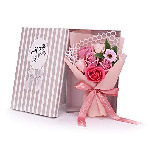 NCONCO Künstlicher Blumenstrauß mit 7 Rosen,...