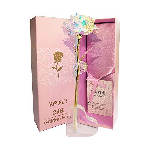 KIRIFLY Gold Rose Geschenk für Frauen Blumen...