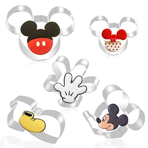 FHzytg 5 Stück Mickey Mouse Ausstecher, Mickey...