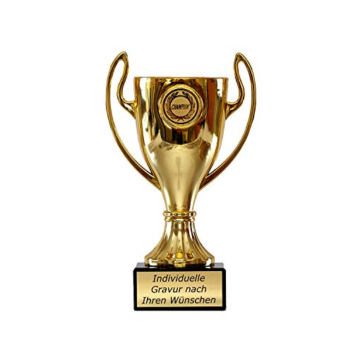 Pokal in Gold mit Wunschtext - Trophäe für...