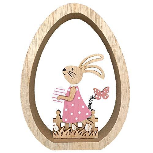 endlos schenken Osterhasen aus Holz mit Osterei...