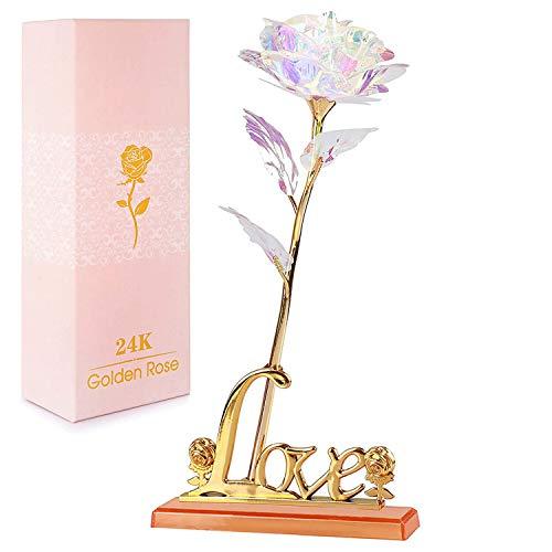 NewX Gold Rose Geschenk für Frauen Blumen...
