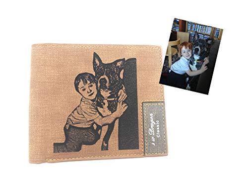 Personalisierte gravierte Foto-Geldbörse für...
