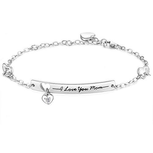 NinaMaid Muttertag Damen Armband Frauen I Love You...