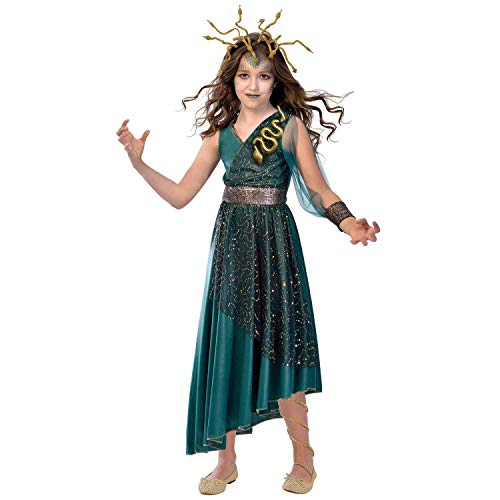 Amscan 9903556 - Kinderkostüm Medusa, Kleid,...
