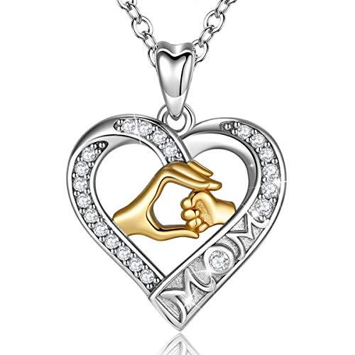 Halskette für Mama, 925 Sterling Silber zwei...