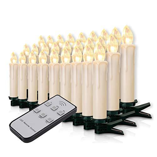 Miafamily 20-60er Weinachten LED Kerzen...