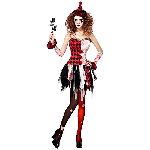 Widmann 07622 Kostüm horror Harlekin, Damen,...