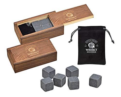WOMA Whisky Steine Set - 6 & 12 Eiswürfel...