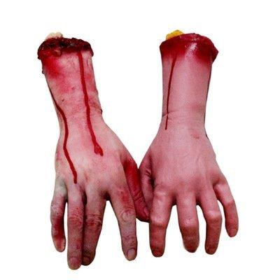 Echthaar Arm Hände Bloody Dead Körperteile...