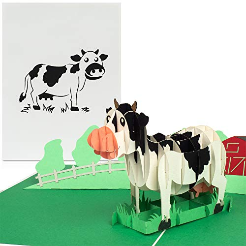 "PaperCrush® Pop-Up Karte Kindergeburtstag ""Kuh..."