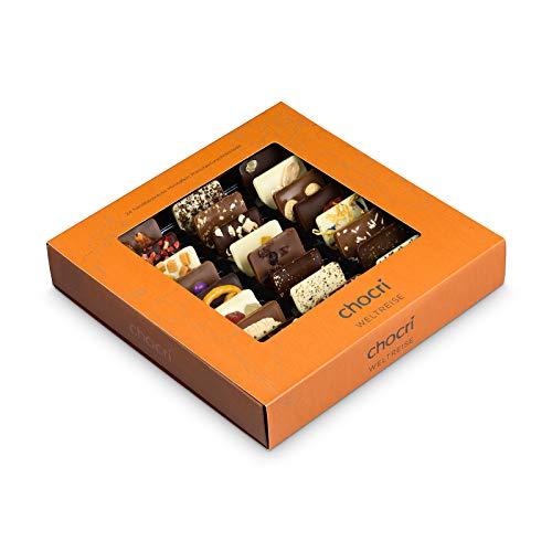 chocri 'Weltreise' - 24 Schokoladen-Täfelchen in...
