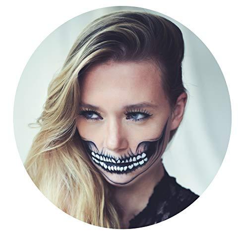 Tattoocrew® 4 x Halloween Tattoos Totenkopf Skull...