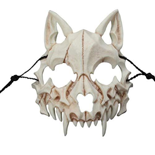 ADIUMA Maske für Herren, Wolf, japanischer...