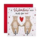 """Valentinskarte von Hallmark – niedliches """"Made for Two""""-Bären-Design."""