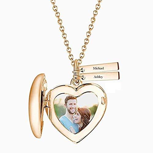 Gaosh Herz Foto Medaillon Halskette mit zwei...