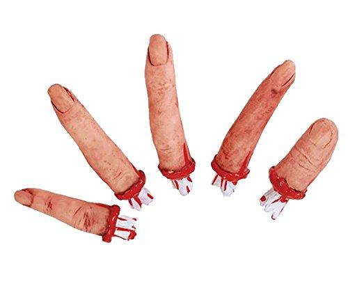 5 abgetrennte Finger Halloween Schocker Horror...