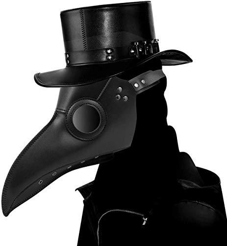 CompraFun Schnabelmaske, Vogelmasken Plague Doctor...