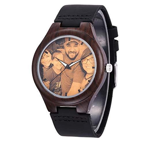 Personalisierte hölzerne Uhr mit Foto oder...