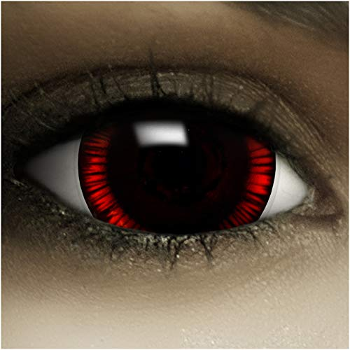 Maxi Sclera Kontaktlinsen 'Flashback' + Kunstblut...