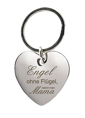 Schlüsselanhänger Herz mit Gravur »Engel ohne...