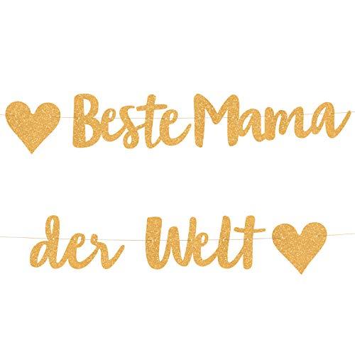 Compagno Beste Mama Girlande goldene Party für...